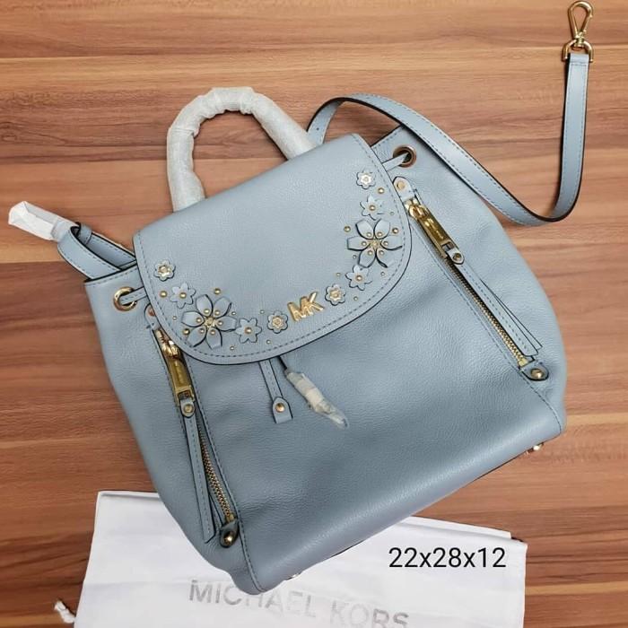 b1a31d5c049e60 Jual Tas Michael Kors MK Evie small flower garden backpack pale blue ...