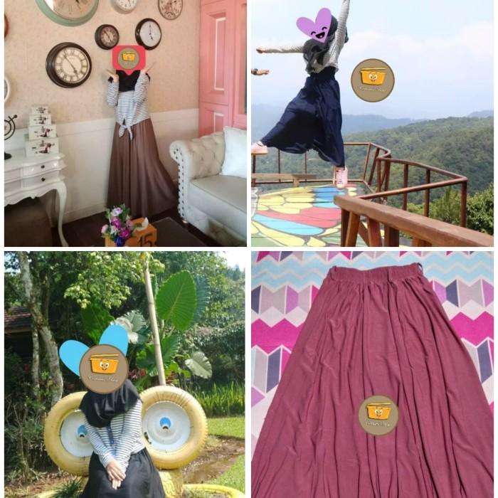 harga Termurah terlaris rok payung jersey premium panjang/kerja/resmi/santai Tokopedia.com