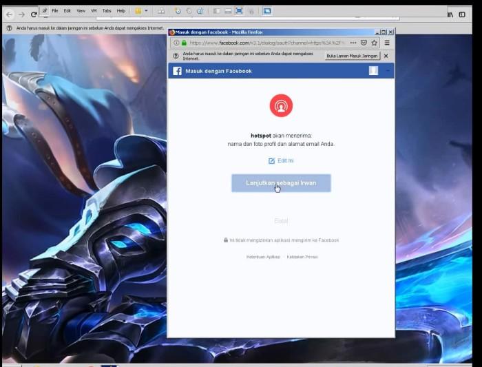 Jual mikrotik login hotspot dengan facebook - - hotspot-wifi | Tokopedia
