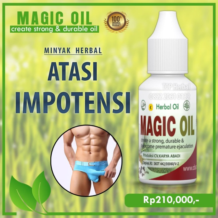 MAGIC OIL - Obat Oles Herbal Atasi Impotensi dan Tahan Lama