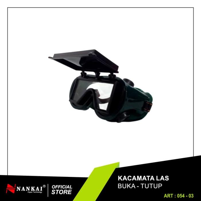 Foto Produk Kacamata Safety Las Buka Tutup Hitam Nankai dari Nankai Tools