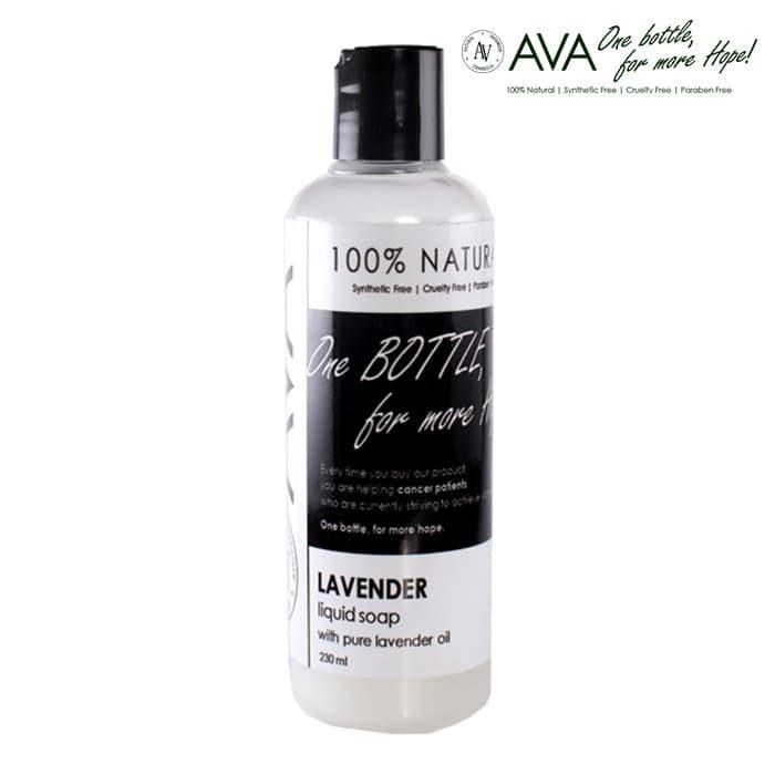 harga Ava natural liquid soap lavender (230ml) - 100% natural sabun mandi Tokopedia.com