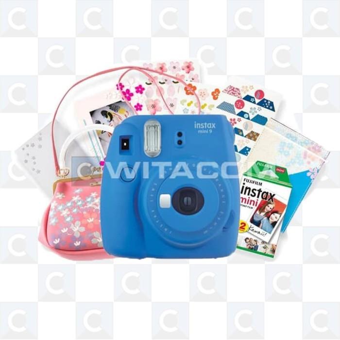 harga Fujifilm instax mini 9 sakura package - cobalt blue Tokopedia.com