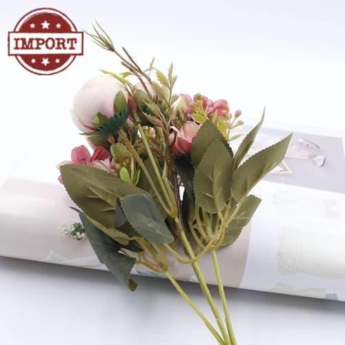 Bunga Plastik Palsu 2 Macam  Mawar   Krisan dekorasi hias shabby murah 251b9d953a