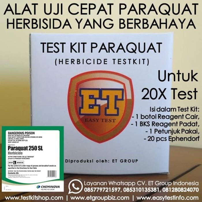 Foto Produk Test Kit Paraquat - Herbicide Testkit - Teskit / Tes Cepat Herbisida dari easytest