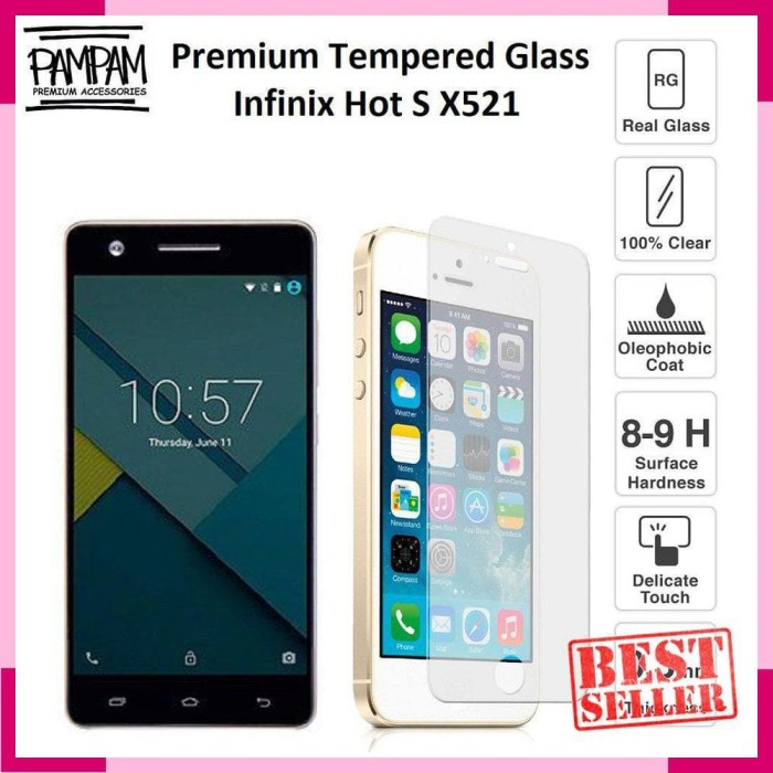 PROMO / Premium Tempered Glass Infinix Hot S X521 HP Anti Gores Layar
