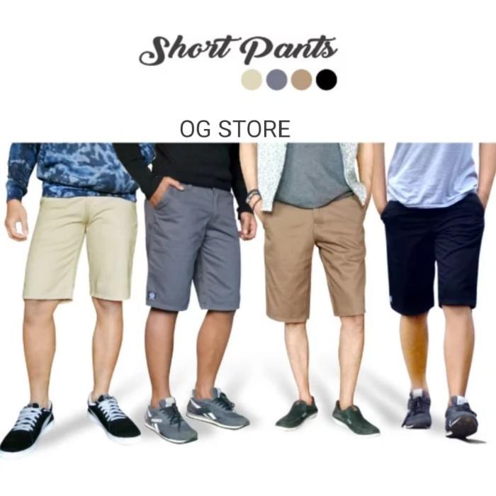 harga Celana pria pendek casual distro motif Tokopedia.com