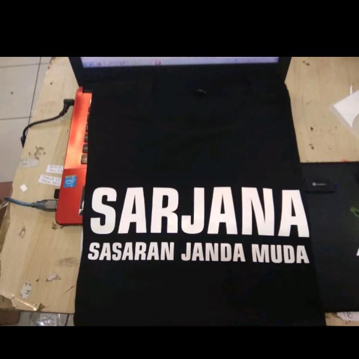 Jual Kaos Baju Tshirt Sarjana Sasaran Janda Muda Kaos Kata Lucu Jakarta Timur Barokah Distro Tokopedia