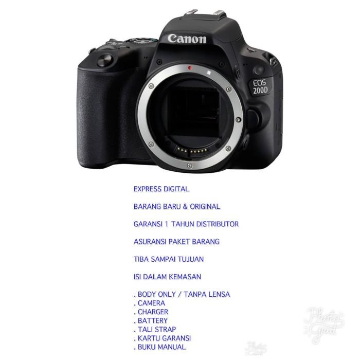 harga Canon eos 200d body only tanpa bonus harga lebih murah Tokopedia.com