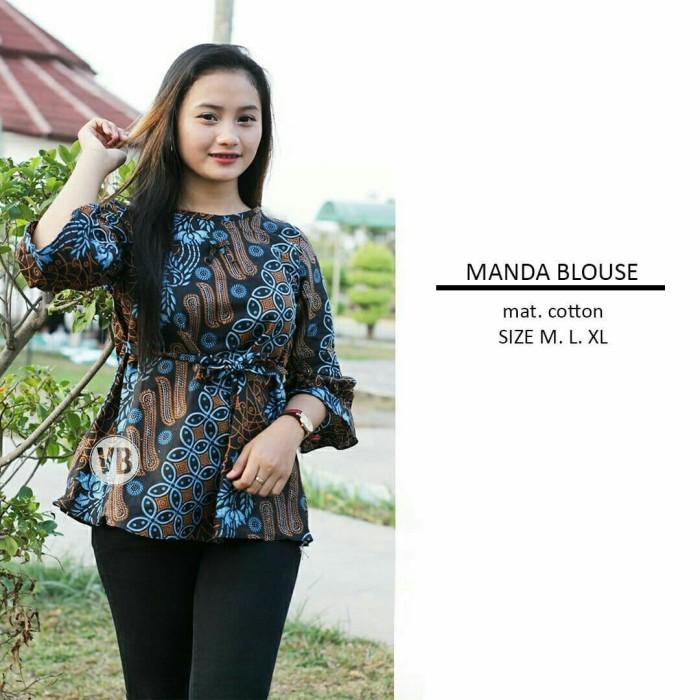 Jual Blouse Batik Atasan Wanita Baju Batik Wanita Seragam Batik Terbaru Kab Pekalongan Batik Zamzam Tokopedia