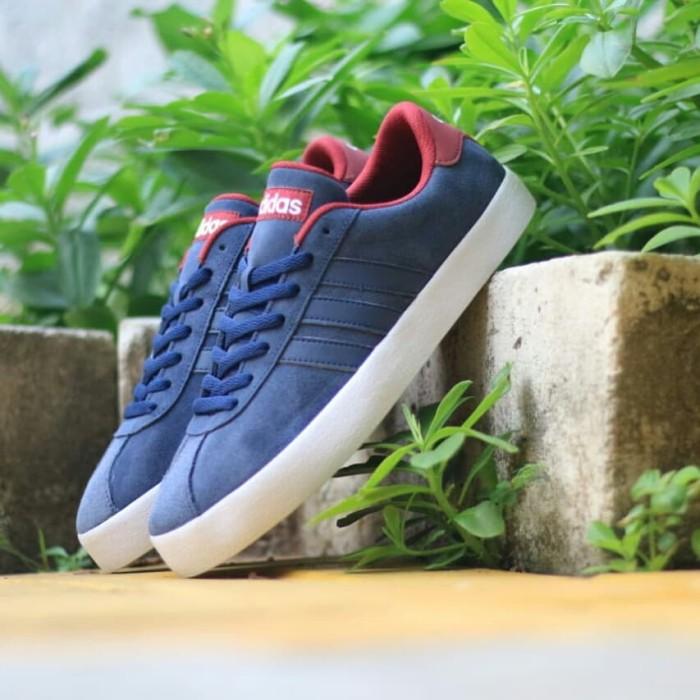 Jual Adidas vl court navy maroon original indonesia bnwb   sepatu ... 670ef8568b