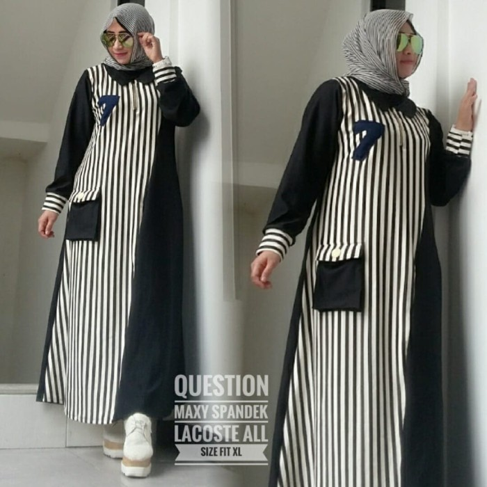 Harga Jual Maxi Dress Spandek Lacoste LSM-306 Di Kab. Bandung Barat ... dedc985c99