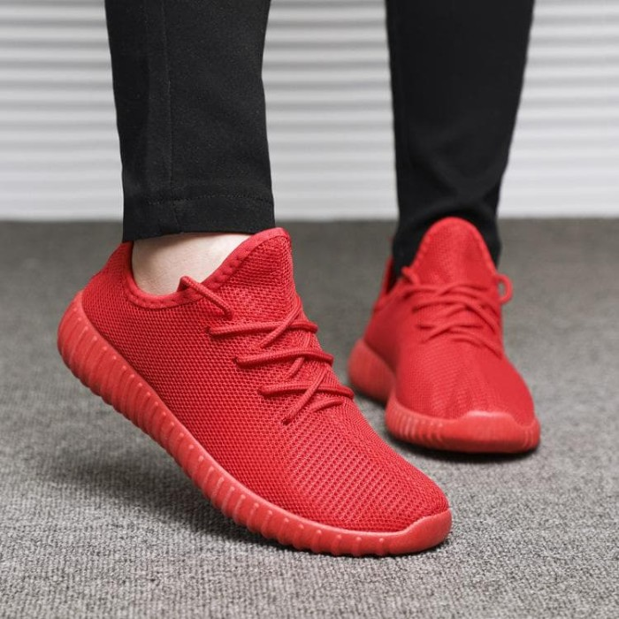 Sepatu Kets Sneaker Yz - Sepatu Pria Dan Wanita- Sepatu Sport Korea -  Merah d1c375562d