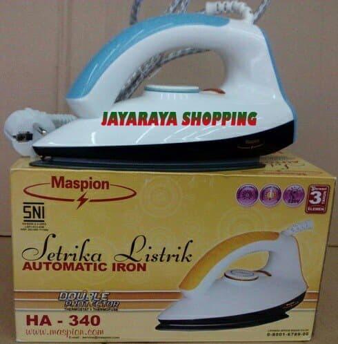 Maspion HA340 – Setrika Biru Putih Brand : Maspion