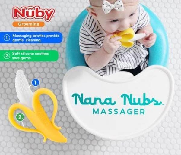Jual Nuby Nana Nubs Massager 3m Teether Toothbrush Sikat Gigi Bayi ... 60d5b44b16