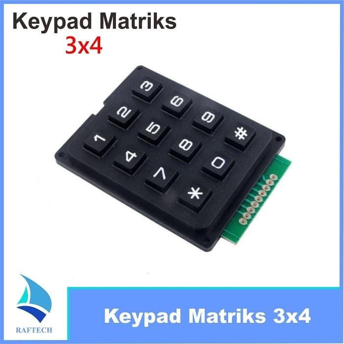 Jual Keypad Matriks 4x3 / 3x4 karet timbul for arduino - Kota Bandung -  RAFTECH | Tokopedia
