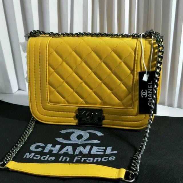 Jual Tas Wanita Tas Selempang Tali Rantai Branded Chanel Boy Mini ... a268b3c91c