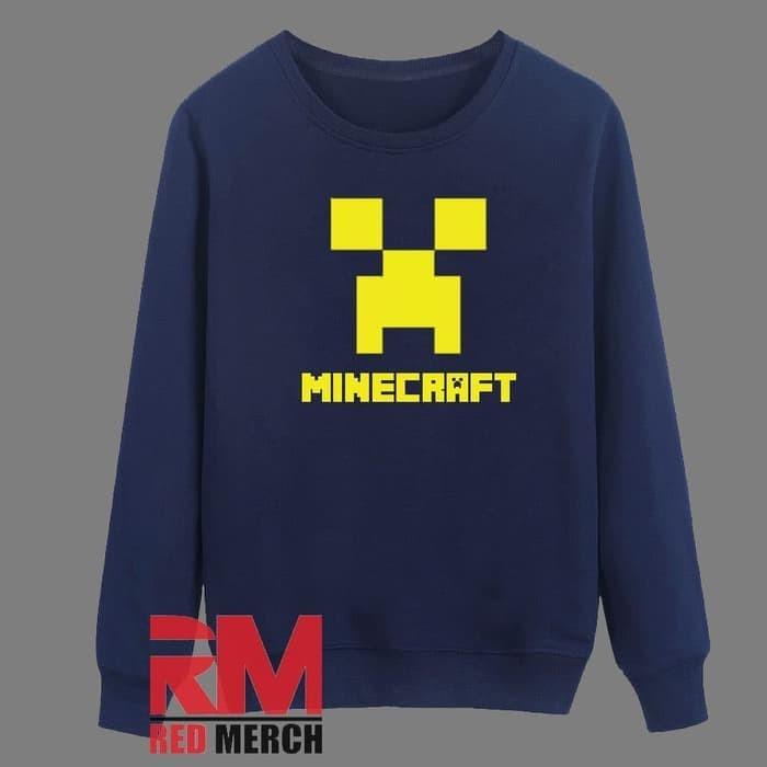 Jual Sweater Logo Minecraft - Navy - RED MERCH - Kota Bandung - WISATA  FASHION SHOP | Tokopedia