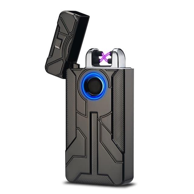Jual Korek Api Elektrik Iron Man Touch Pulse Plasma USB ...