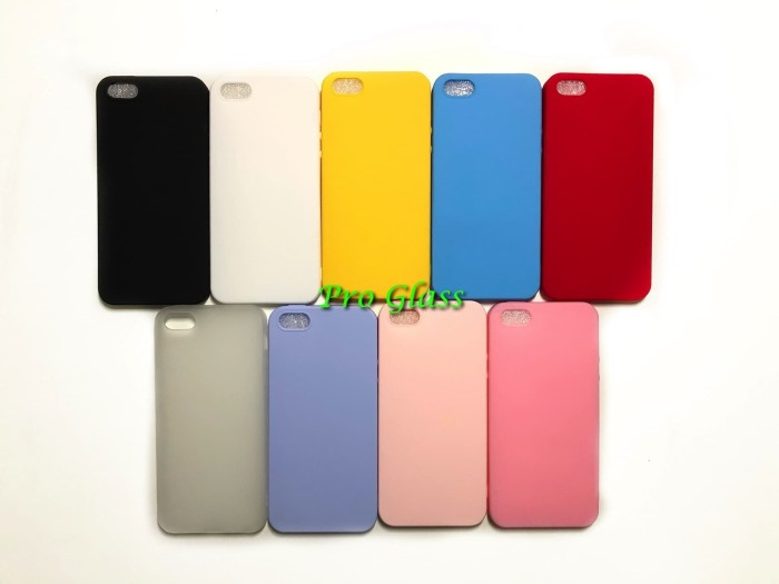 Foto Produk C107 Iphone 5 / 5s / se Colourful Ultrathin Silicone Case / Matte Case dari Pro Glass