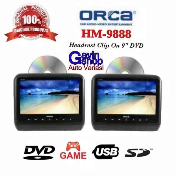 harga Orca headrest dvd game monitor usb clip on 9 inch full hd Tokopedia.com