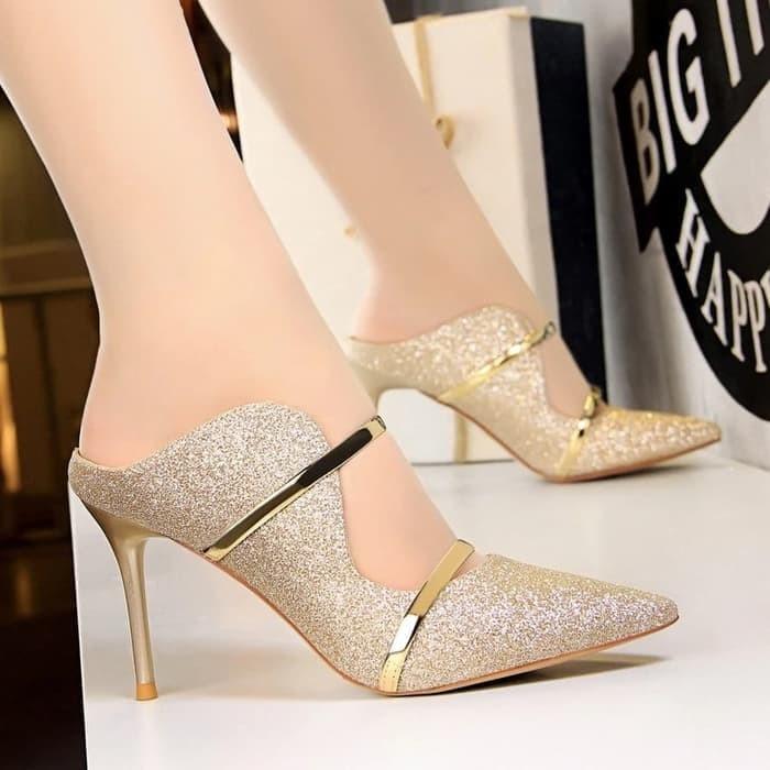 Foto Produk SEPATU WANITA HIGH HEELS BEMBI EMAS - Emas, 37 dari Clarisse Shoes