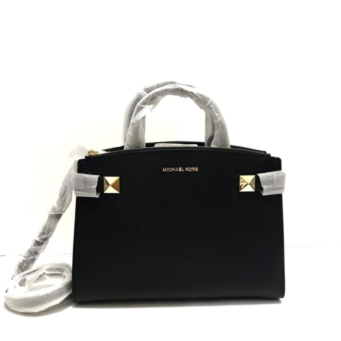1fc6ab3af3a02b Jual TAS MICHAEL KORS ORIGINAL - MK KARLA MEDIUM SATCHEL BLACK ...