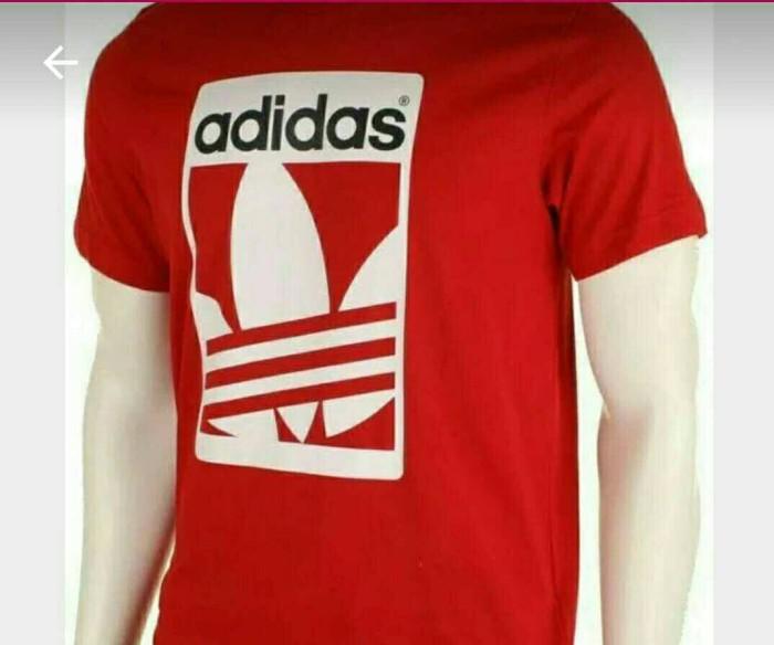 Jual kaos t shirt pria Bigsize 3xl 4xl Adidas red Jakarta Timur Grage BIG Size | Tokopedia