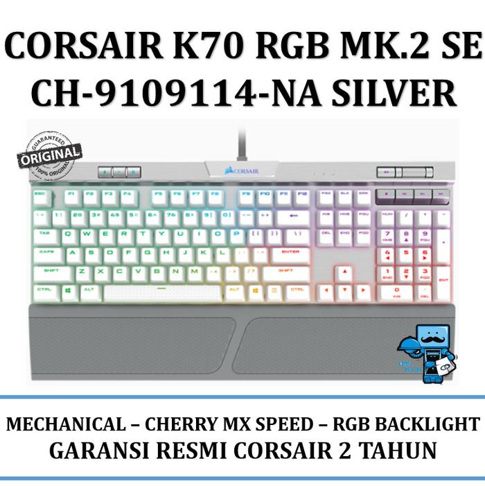 harga Keyboard gaming corsair k70 rgb mk.2 se mechanical - cherry mx speed Tokopedia.com