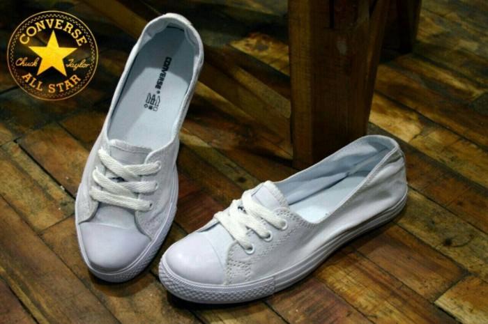 b93ee6481257b1 Jual sepatu wanita converse 3 hole mono putih murah - simpati ...