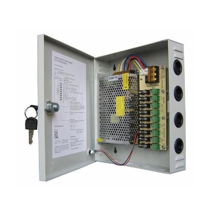 harga Power supply box 20a / 12v central panel cctv adaptor + kipas Tokopedia.com