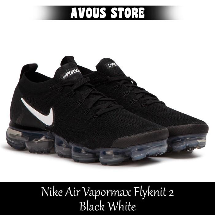 2a5e60cec7 Jual Sepatu Pria Nike Air Vapormax Flyknit 2 Black White - AVOUS ...