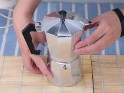 Silver Mokapot Alumunium 6 Cup Moka Pot Coffee Espresso Kopi