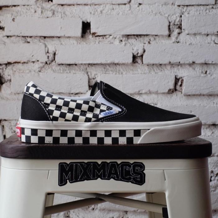 vans slip on sidewall checkerboard Sale
