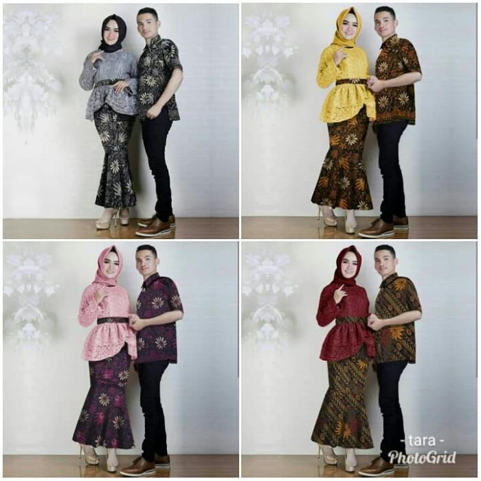 harga Cp annisa baju couple kebaya brukat batik rok duyung kemeja Tokopedia.com