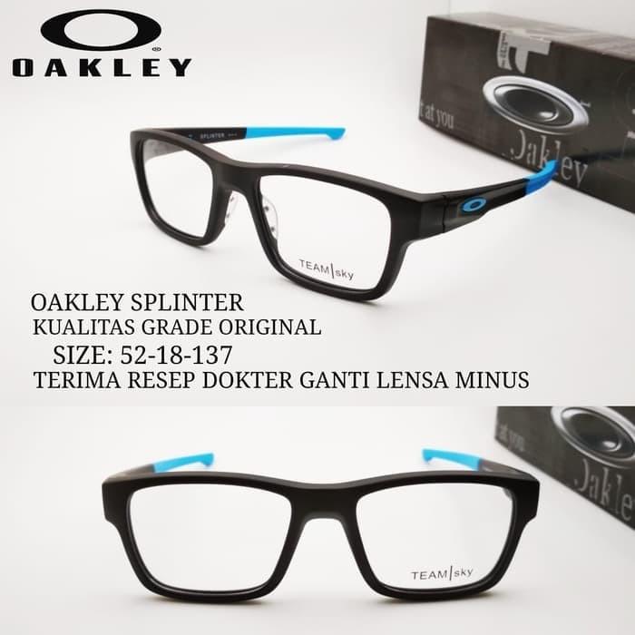 Jual kacamata Okley Splinter frame sporty grade ori paket lensa rad ... 807cdc9e6a