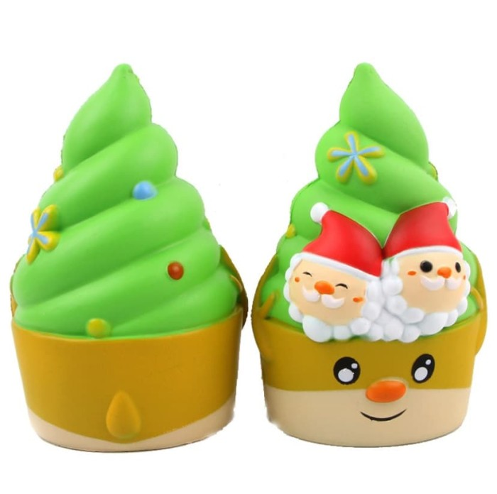 Mainan anak Squishy kucing jumbo 16 CM model pohon natal dan santa k41