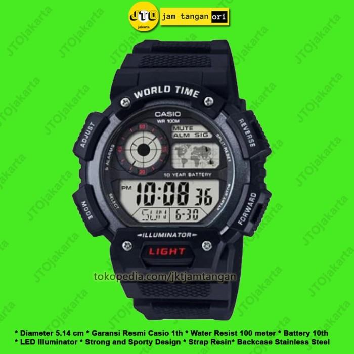 Jam Tangan Pria Casio Original Arloji Sport Cowok Digital AE 1400WH 1A 96dfe66b4b