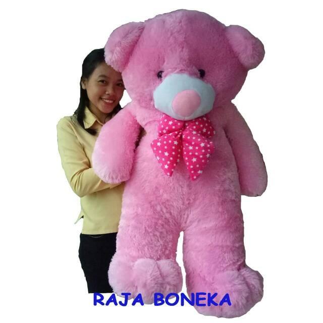 Boneka Beruang Jumbo Pink 11 Meter Besar Teddy Bear Panda Murah 69d76bbef8