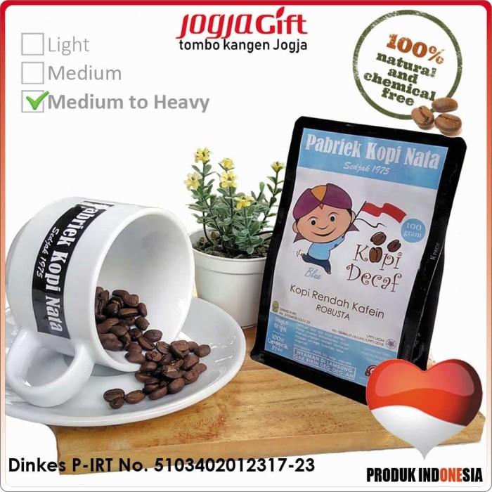 Kopi decaf robusta pabriek kopi nata blue - medium to heavy