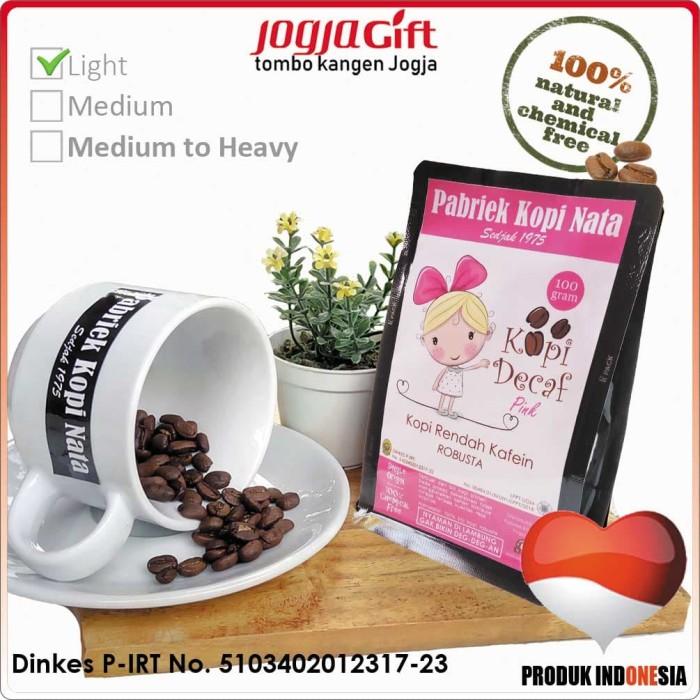 Kopi decaf robusta pabriek kopi nata pink - light