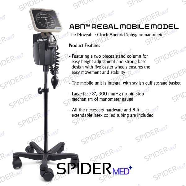 ABN REGAL Clock Aneroid Mobile Model - Tensimeter Aneroid