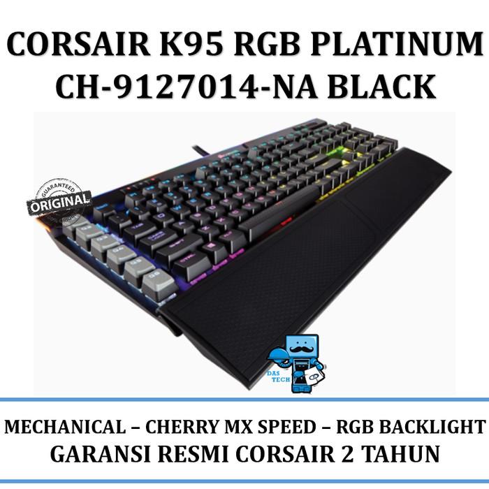 CH Black Corsair Gaming K95 RGB PLATINUM Mechanical Keyboard Cherry MX Speed