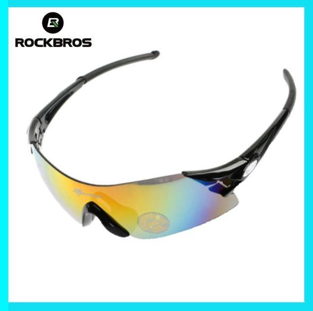 Rockbros Bersepeda Kacamata Sepeda Kacamata Hitam Olahraga Baru ... 9be0a90c51