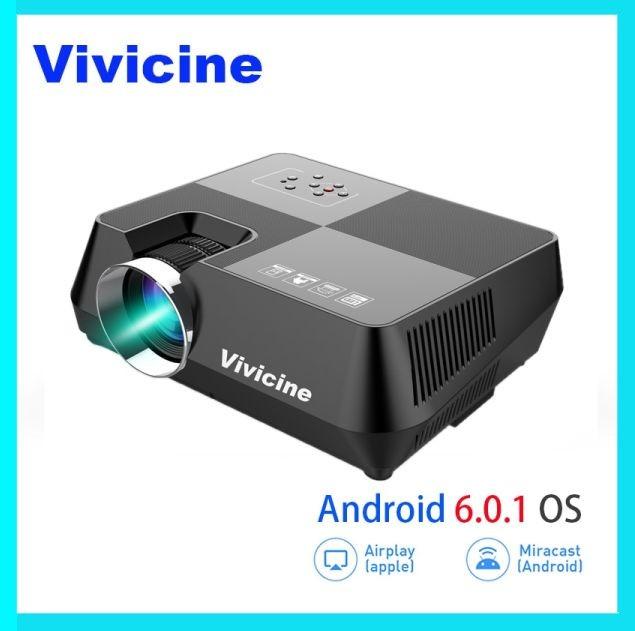 Jual Promo Vivicine HD LED Projector, Portabel 720 P HD Rumah Theater -  Kota Bekasi - Jaticempaka Store | Tokopedia