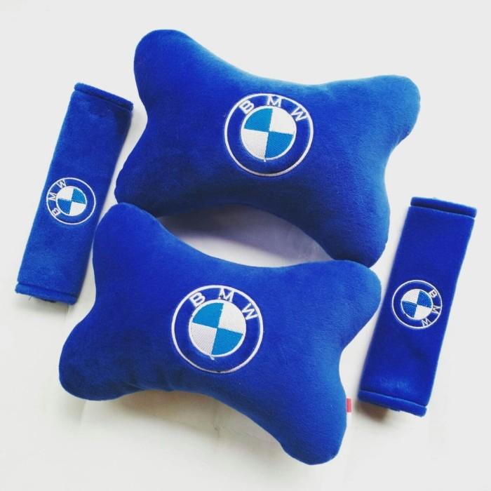 Bantal Mobil BMW biru