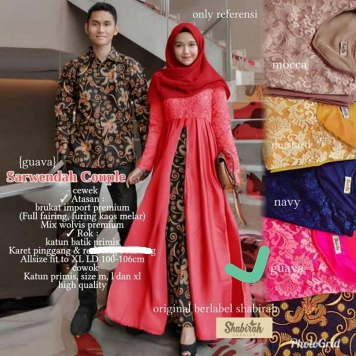 Jual Batik Couple Gamis Kondangan Batik Pesta Remaja Kekinian Hrc23