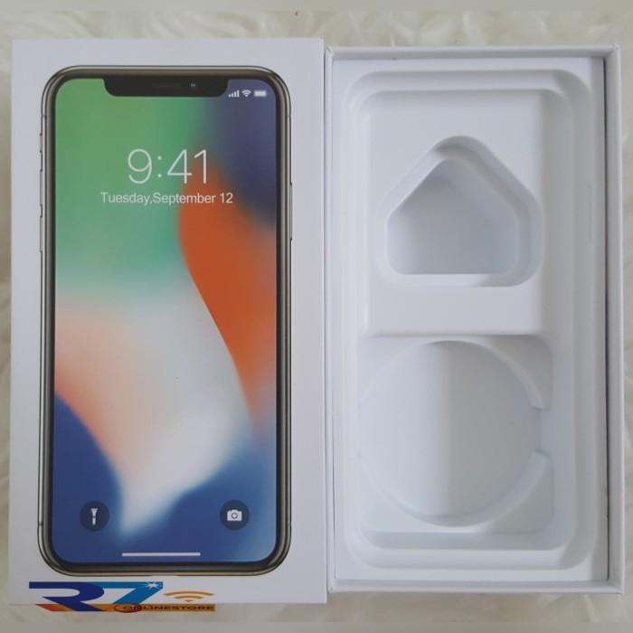 Box/Dus/Kotak iPhone X Silver (Full Set)