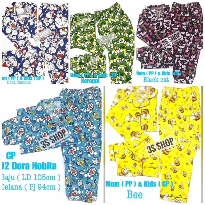 Jual Baju Tidur Pp Pasangan Ibu Anak 6 12th Couple Mom Kid Piyama Doraemon 4 6 Tahun Keroppi Jakarta Barat Clouds Kids Wear Tokopedia