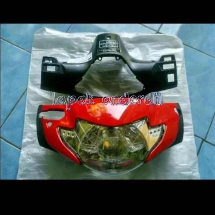 Foto Produk batok kepala depan belakang supra x lama plus reflektor merah dari ONDERDIL MOTOR PEDIA